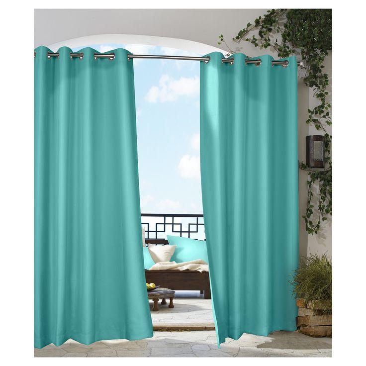 The Outdoor Decor Gazebo Solid Indoor Outdoor Grommet Top Window Panel Creates Privacy Shade