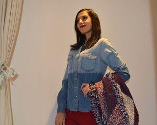 Cuntis Moda #denimstyle #denim #style http://www.cmcuntismoda.com/2015/11/lunares-o-topitos_29.html
