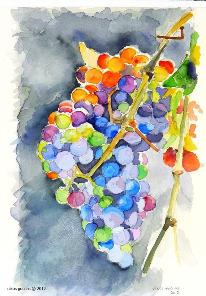 Γιατί εκείνα τα τσαμπιά έμοιαζαν με μικρά πολύχρωμα λουλούδια ή καλύτερα με σύνθεση από μικρές χαντρούλες που η κάθε μια κουβαλούσε στο χρώμα που είχαν οι ρόγες της την κάθε ηλικία και όλες τις εποχές μαζί.