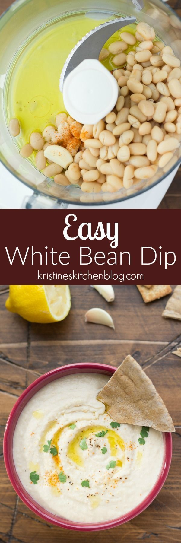 This Easy White Bean Dip is one of my family's favorite healthy snacks! It's made with just a few simple ingredients that you likely have in your kitchen! If you like hummus, you'll love this appetizer!