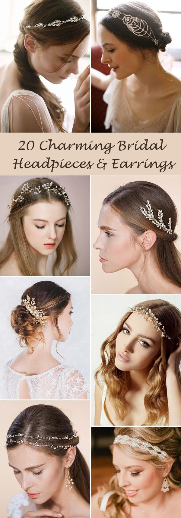 20 charming headpieces and earrings for all brides