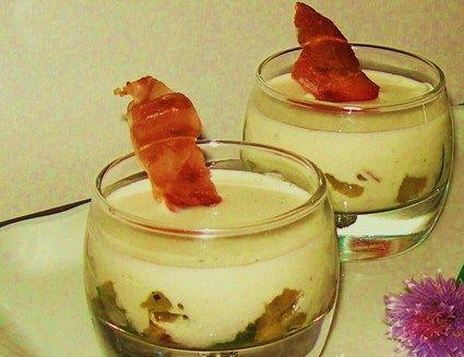 Verrines de courgettes à la crème de parmesan