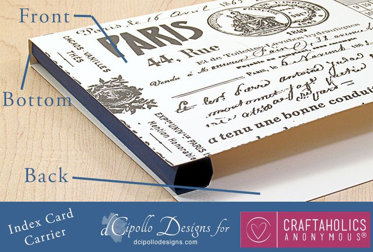 Craftaholics Anonymous® | DIY Index Card Holder - Free Cut File