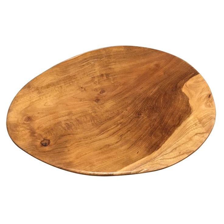 Flat Wooden Plate. A simply round and flat plate. Perfect for presenting a variety of food, this Flat wooden plate is made from natural suar wood.