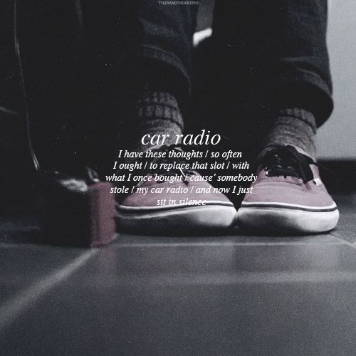 car radio - twenty one pilots