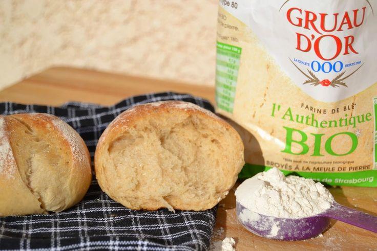 """Petits pains tendres bio de """"Le panier à pains"""""""