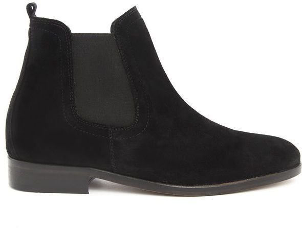 $117, Black Suede Chelsea Boots: Menlook Label Marlon Black Chelsea Boots Sale. Sold by Menlook. Click for more info: https://lookastic.com/men/shop_items/280897/redirect