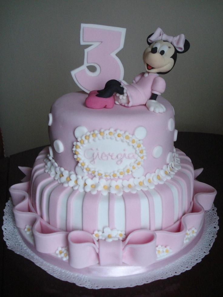 Minnie Mouse fondant cake, by Les Génoises