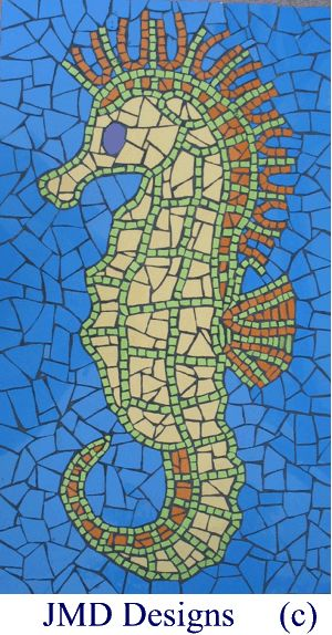 21 best mosaic art images on pinterest for Easy mosaic designs