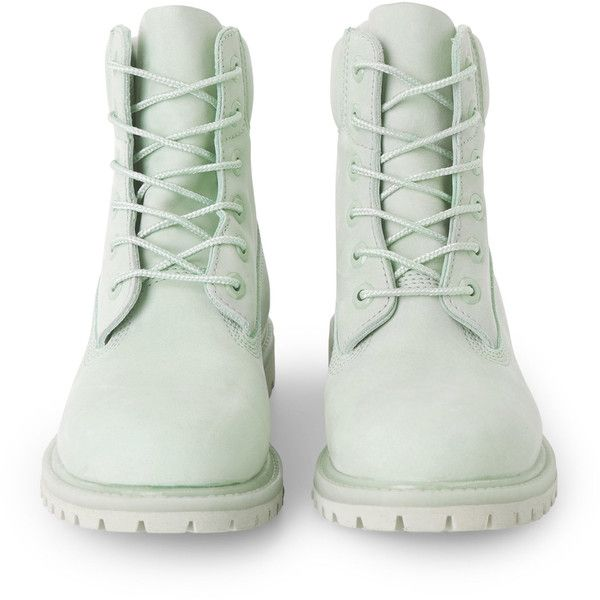 Icon 6-inch Premium Boot - Green - Shoes - Weekday (800 PEN) ❤ liked on Polyvore featuring shoes, boots, green boots, water proof boots, waterproof shoes, waterproof footwear and work boots