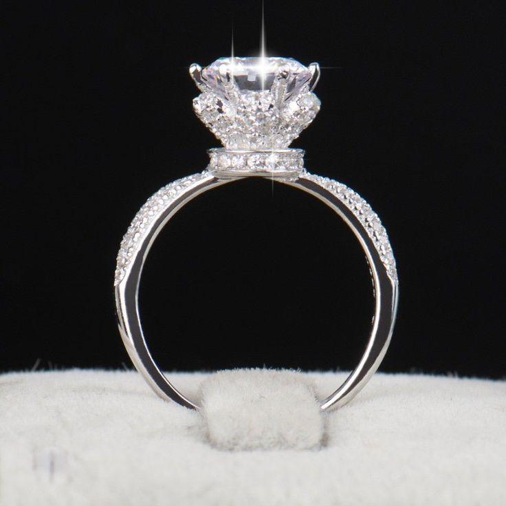New Fashion Classic Soild 925 Sterling silver wedding Ring CZ Ziron Jewelry #Modian #Romantic
