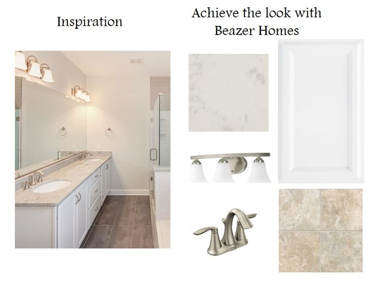 Brushed Nickel Fixtures And Finishes Compliment The Quartz Counters In This  Bath. The Flooring Tile