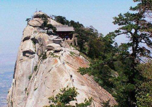 Huashan Teahouse (Huayin, China)  This restaurant takes the meaning out of working for your food. Located at the top of Mount Hua, visitors must tiptoe across wooden planks nailed to the side of the mountain and then climb one of the world's steepest staircases protected by a little fence. If you make it to the restaurant... you eat for free.