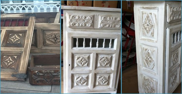 Un mueble castellano anticuado restaurado bricolaje - Muebles de colores pintados ...