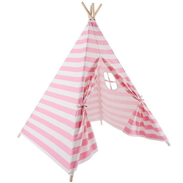 This high quality teepee tent is made of thick canvas and comes with 8 poles. This tent is the perfect gift for your little one that is sure to make them happy all year! Best for ages 3-7 years old -