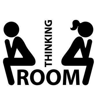 ADESIVO THINKING ROOM NERO