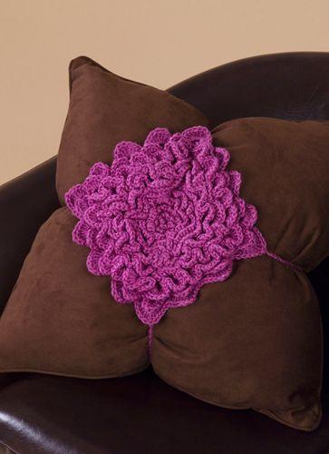 Flower Petal Pillow Crochet Pattern from Caron Yarn | FaveCrafts.com