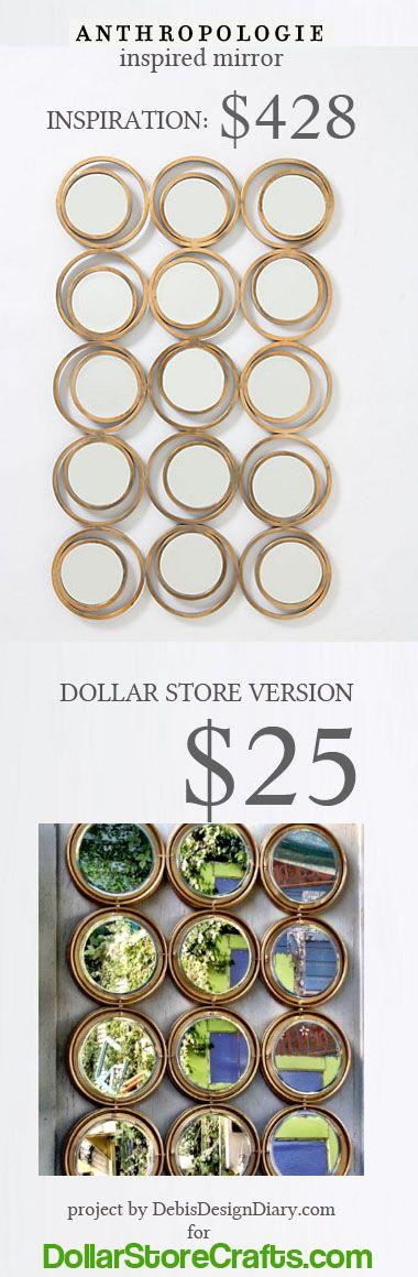 Make an Anthro-inspired mirror -- a savings of over 400 bucks