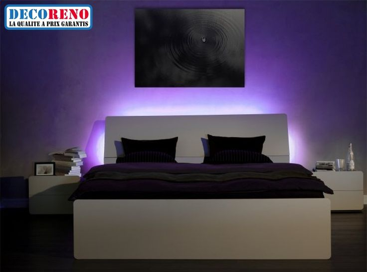 clairage led chambre rubans led pinterest clairage led led et ruban led. Black Bedroom Furniture Sets. Home Design Ideas