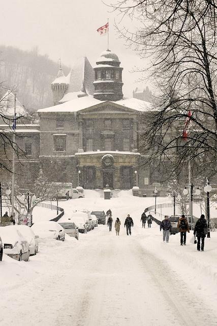 McGill University. Montreal. Typical winter scene.
