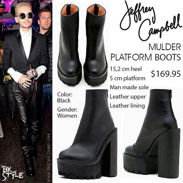 Bill Kaulitz style    Plateforme Mulder Boots par Jeffrey Campbell [Paris, France - 03/10/2015] ~ Ŧoкio нoŦεℓ αℓiεηs sραiη