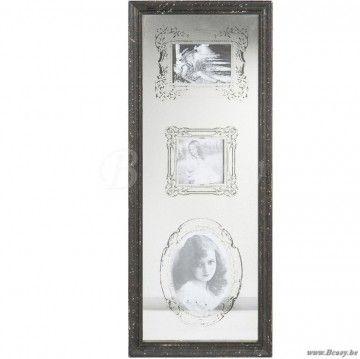 "J-Line Fotokader 3 stuks spiegel-hout zwart 75 <span style=""font-size: 0.01pt;"">Jline-by-Jolipa-48454-antieke-stijl-decoratie-online-shop-online</span>"