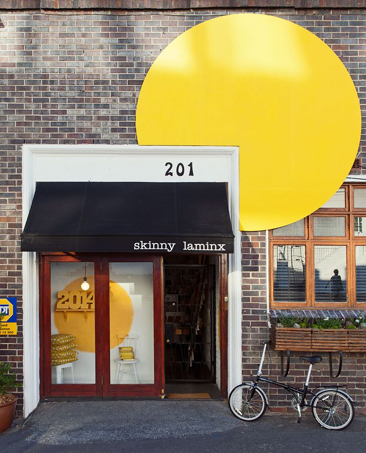 The Skinny laMinx shop at 201 Bree Street, sporting a giant yellow dot to celebrate Cape Town as World Design Capital 2014! Photo: Dave Southwood
