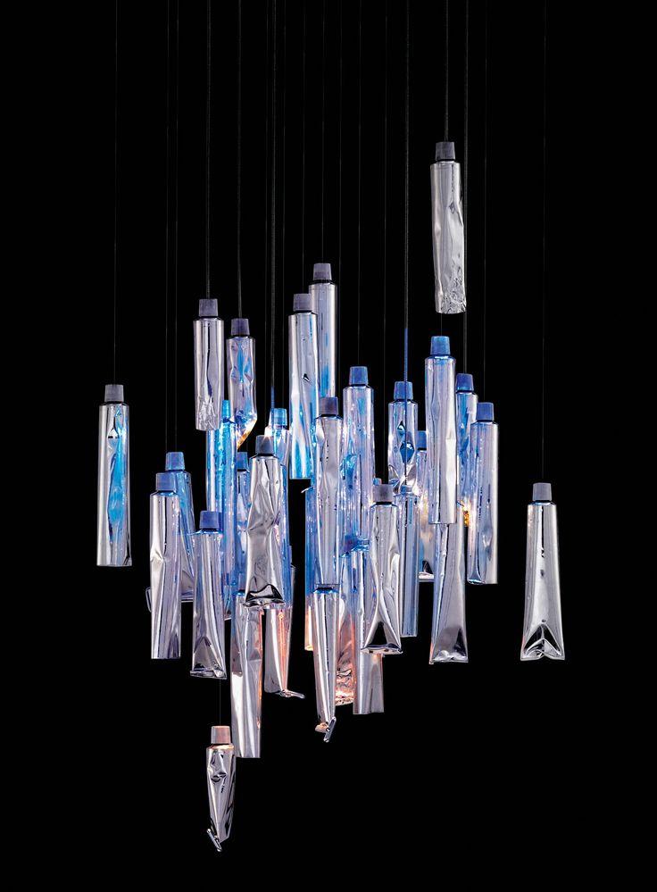Ingo Maurer TU BE 1 Lamp Modern Chandelier By Ingo Maurer And Ron Arad.made  W Paint Tubes