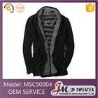 Последние дизайн западный стиль черный кардиган свитер шали шеи мужские зимнее пальто