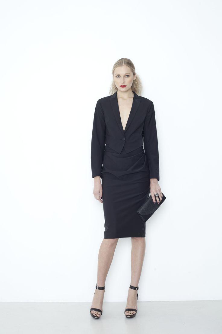 Busboy Jacket, Starlet Skirt - black