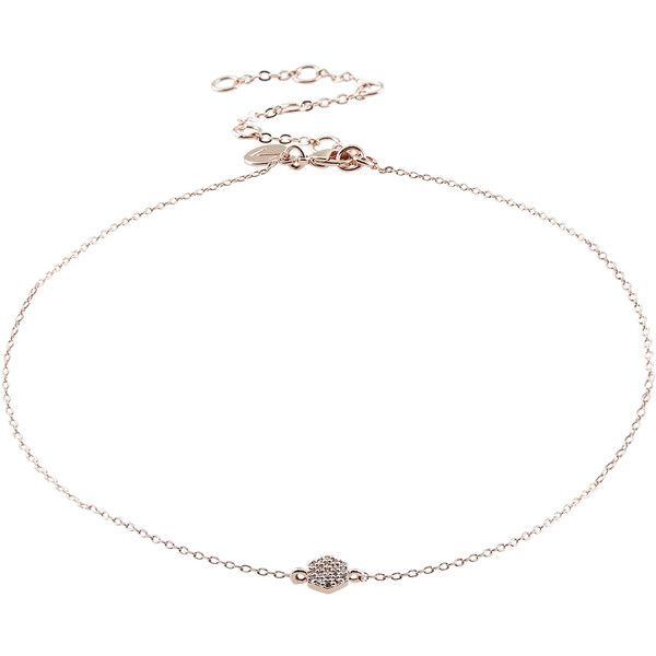 Accessorize Pave Hexagon Rose Gold Chain Choker Necklace ($23) ❤ liked on Polyvore featuring jewelry, necklaces, rose gold chain necklace, pendant chain necklace, rose gold pendant necklace, chain choker and rose gold necklace