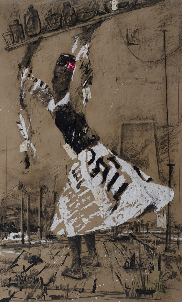 , William Kentridge - Drawing for The Refusal of Time