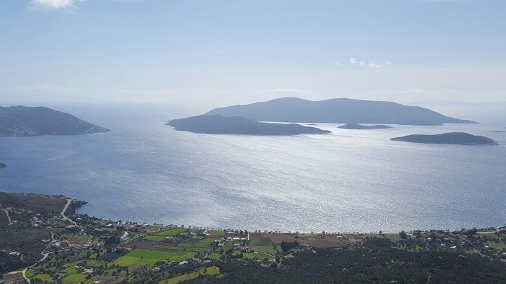 Evia, over Karystos town