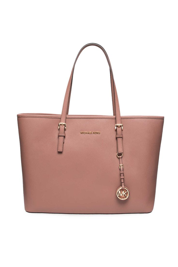 Handbag Jet Set Travel MD Mult Funt Tote DUSTY ROSE/GOLD - Michael - Michael Kors - Designers - Raglady