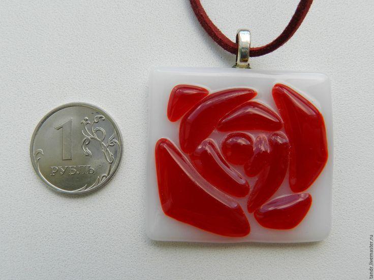 Купить Подвеска роза - подвеска, подарок, подарок женщине, Кулон ручной работы, сувениры