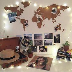 Si eres viajero, es una buena idea para decorar tu habitación.