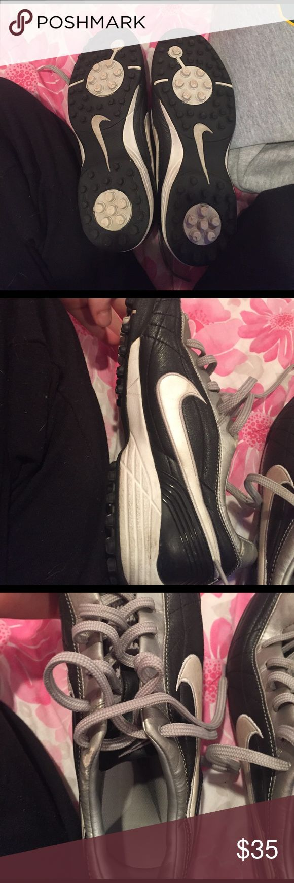 Nike turf shoes These gray and black shoes go with any team colors! These shoes have been used but are still on good condition! Nike Turf shoes! Nike Shoes Athletic Shoes