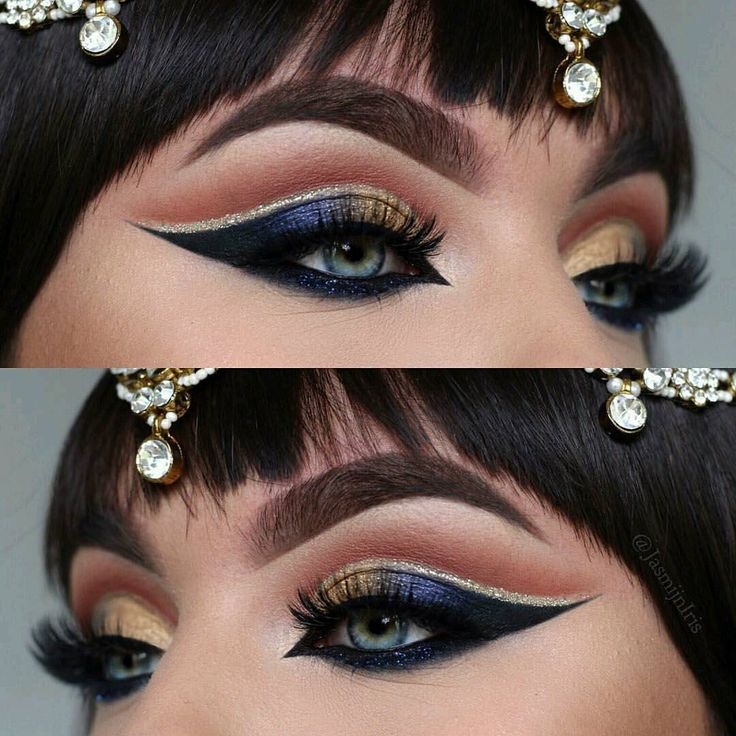 "40 Likes, 3 Comments - Lada Aliyeva (@tobebeautyface) on Instagram: ""CLEOPATRA EYES ✨Jewelry from @siyajewels Products Used: @anastasiabeverlyhills dipbrow in dark…"""