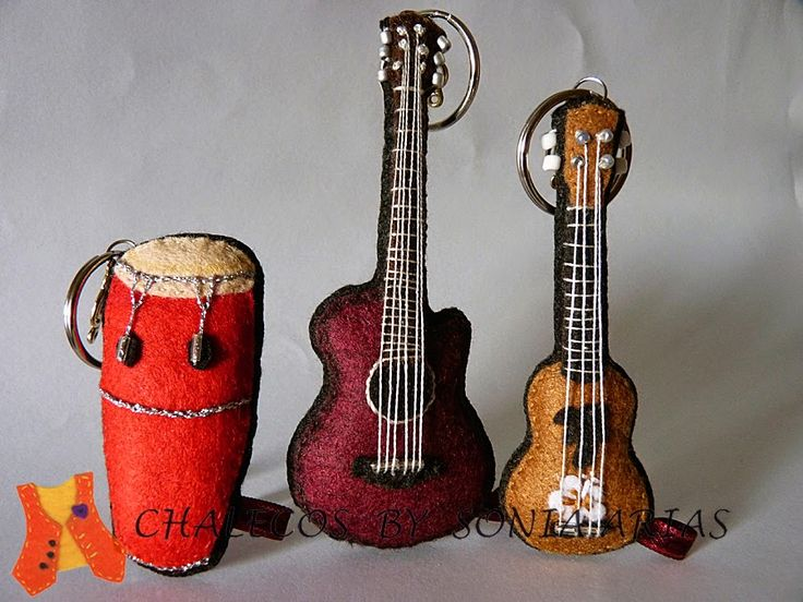 Custom musical instruments felt, conga, guitar and ukulele...