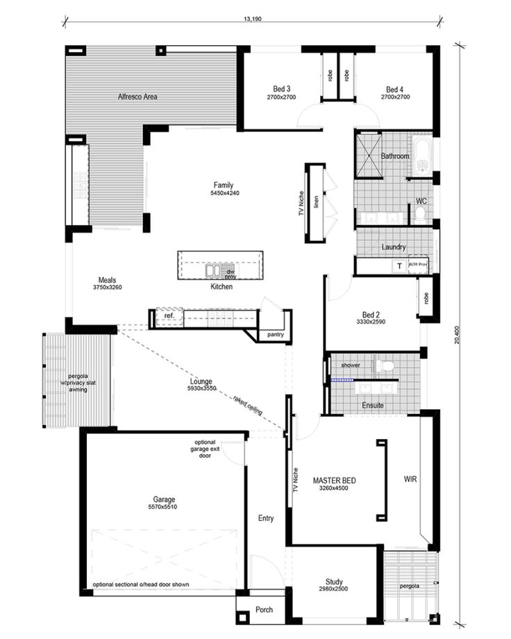 Floor plan friday modern 4 bedroom study floor plans for 4 bedroom