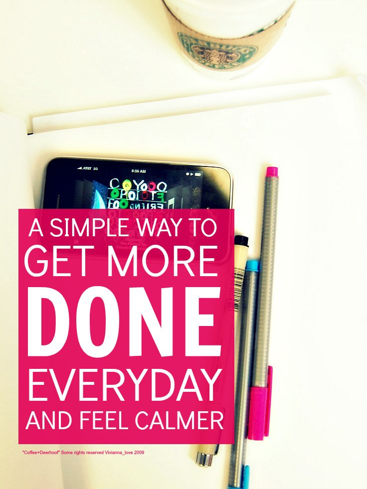 Productivity tips - simple tips that will help you get more done everyday