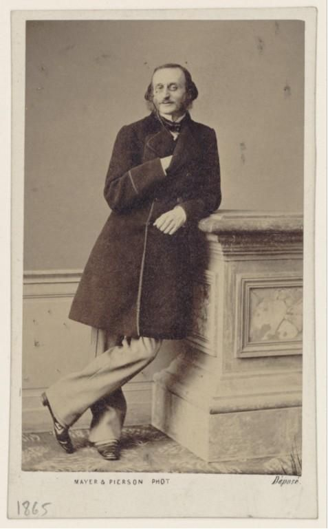 Jacques Offenbach [born Jakob Eberst] (1819-1880), photograph (1865), by Ernest Mayer (1817-1865), Louis Frédéric Mayer (1822-1913), and Pierre Pierson (1822-1913).