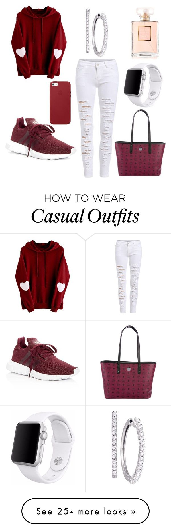 """""""Merlot"""" by michaelmartin714 on Polyvore featuring adidas, MCM, Apple and Chanel"""