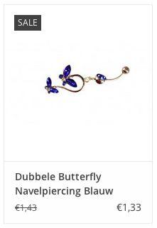 Dubbele Butterfly Navelpiercing Blauw € 1,33 www.ovstore.nl/nl/dubbele-butterfly-navelpiercing-blauw.html