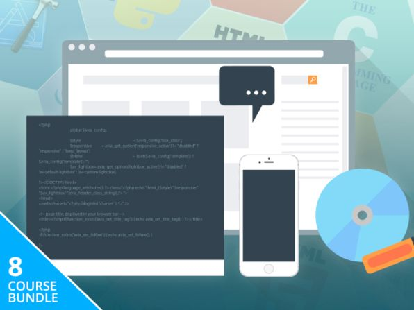 Coding 101 online Course Bundle Discount - 8 Courses - massive 99% Off   $6602 - $49 - 99% Off : 8 Courses 31 Hours on Python JavaScript jQuery & More  Course No. 1 : Introduction to Web Development Discover the Basics of Building Websites from ScratchCourse No. 2 : jQuery for Beginners Study JavaScript & jQuery--The Web's Most Essential Language & FrameworkCourse No. 3 : iOS Development for Beginners Bring Your Amazing iPhone & iPad App Ideas to LifeCourse No. 4 : HTML5 Mobile App…