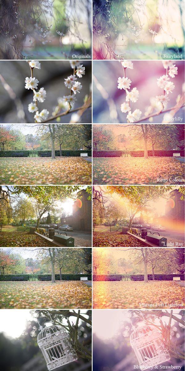 Photoshop Aktionen für Besondere Bildeffekte