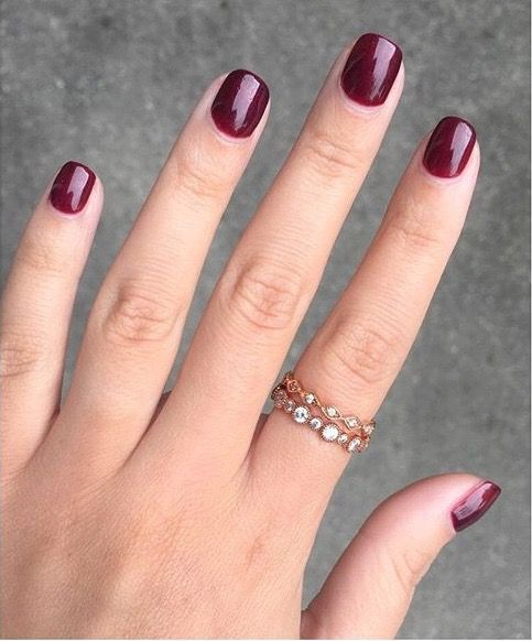 Double brownie points to Merchandiser Sarah Jane for perfect #fall nails + for wearing our Petits Bijoux Stackable Rings!