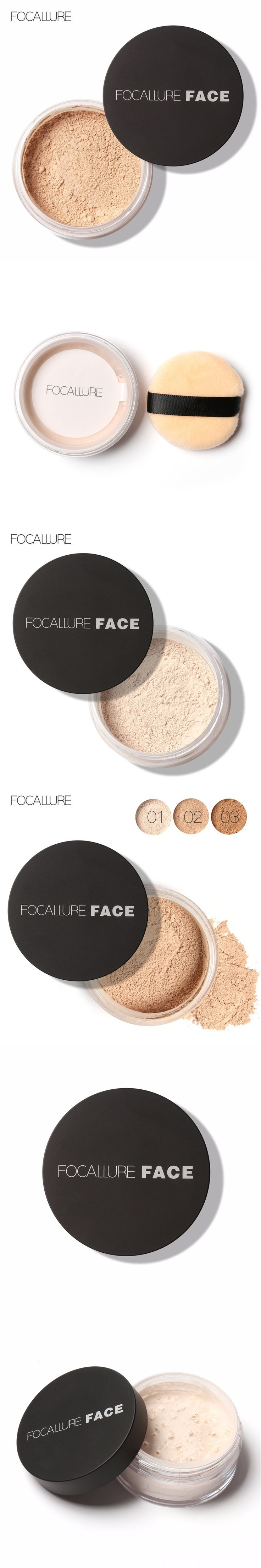 focallure Make Up Primer Loose Powder with Puff Setting Powder Poudre Libre Oil-control Finishing Powder Matte Banana Powder