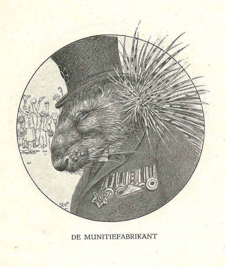 De Munitiefabrikant by Henri Verstijnen. Europeana 1914-1918, CC BY-SA