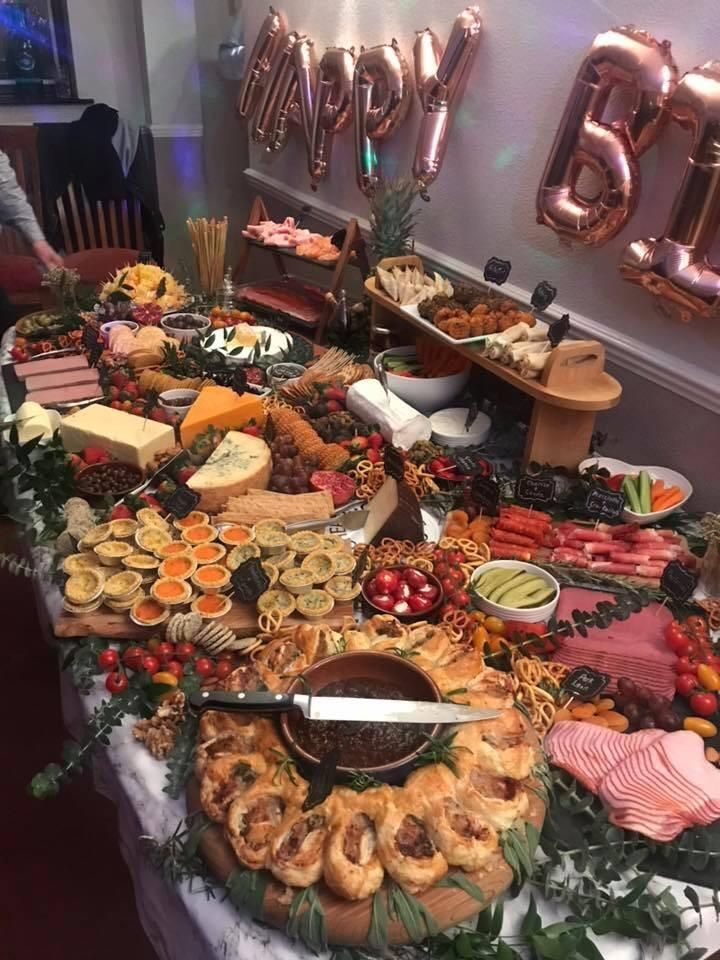 Homemade Table Layed For Mums 50th Birthday Party Food Foodie